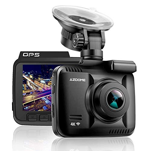 4K Car Dash Cam, 2.4″ Dash Camera Recorder WiFi GPS, 170 °Wide Angle Dashboard Camera with G-Sensor, WDR Super Night Vision, Loop Recording,Parking Monitor,SOS Protection,Motion Detection