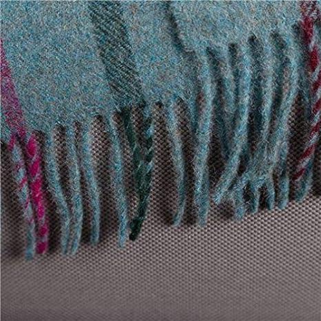 Bronte Variegated Herringbone Duck Egg Blue Soft Merino Lambswool Blanket Throw