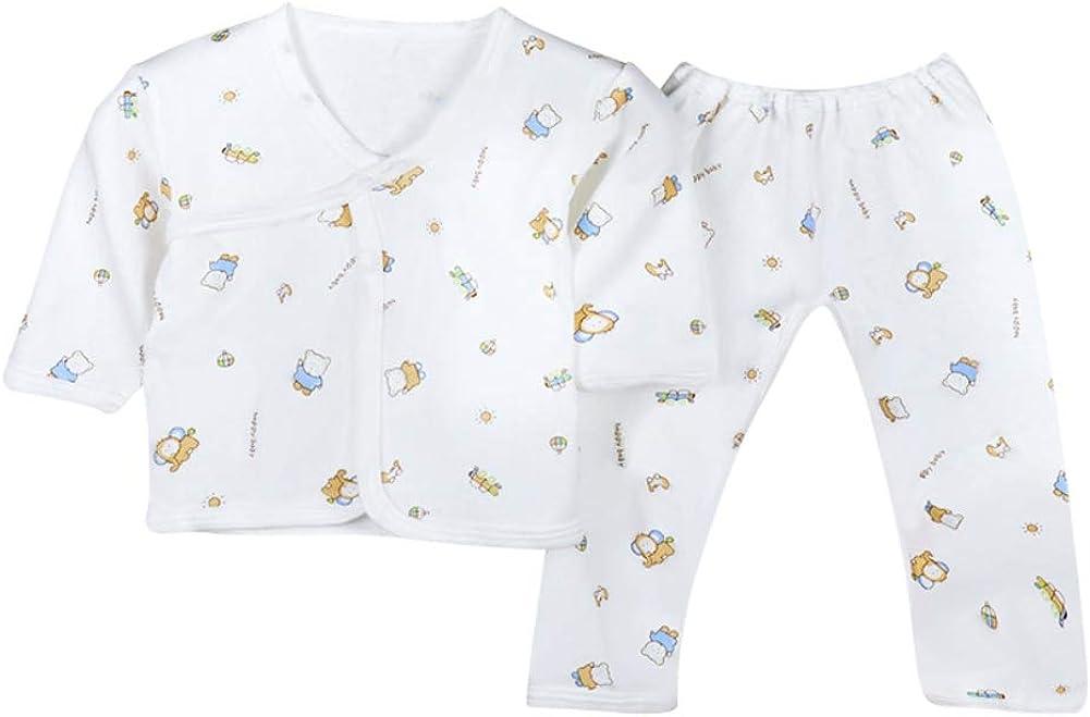Newborn Underwear Unisex Boy Girl Pyjamas Set Infant Cotton Sleepwear for Boys Girls