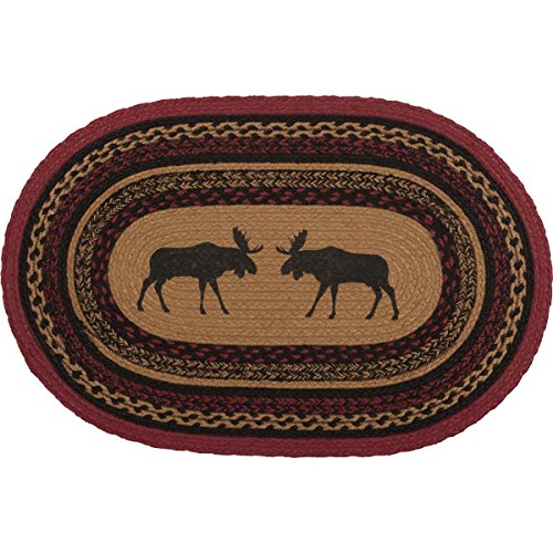 (VHC Brands 37868 Rustic & Lodge Flooring-Cumberland Tan Oval Jute Rug, 1'8
