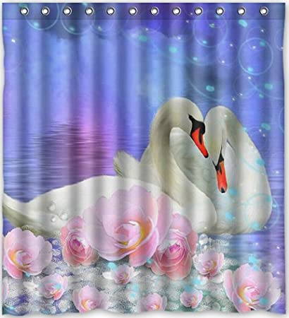 Amazon Cool Design Swan Shower Curtain 66w X 72h Generic