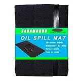 "Sahamoduo Oil Spill Mat (36""x 60""), Premium Absorbent Garage Floor Oil Mat - Reusable - Oil Pad Contains Liquids, Protects Garage Floor Surface"