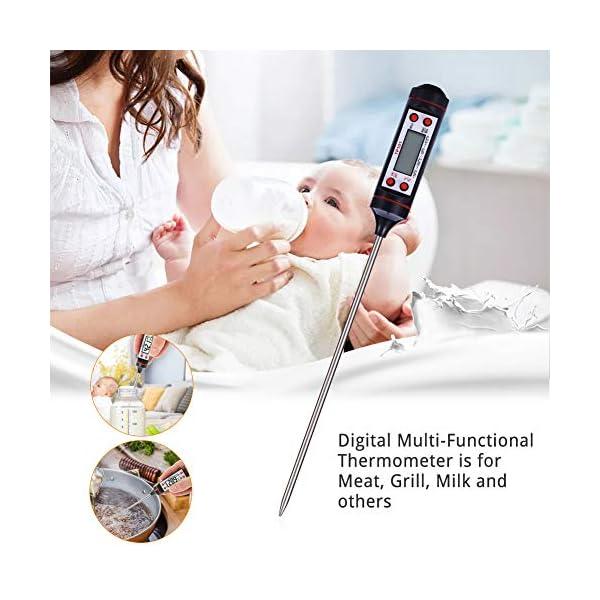Nuonove Termometro Cucina, Termometri Carne, Termometro Digitale per Alimenti, Schermo LCD, per BBQ Cottura Alimenti… 5