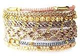 Wakami Unique Handmade 7 Set Earth Multi Strand Adjustable Etsy Bracelet :: Unique Bridesmaid Gift, Wedding Jewelry