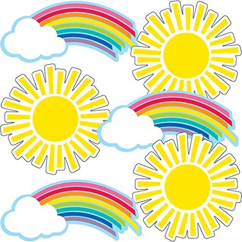 Hello Sunshine Rainbows & Suns Cut-Outs -