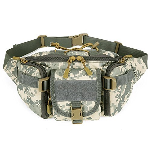 Review Tactical Waist Pack CREATOR Portable Fanny Pack Outdoor Hiking Travel Large Army Waist Bag Military Waist Pack for Daily Life Cycling Camping Hiking Hunting Fishing Shopping – ACU Digital