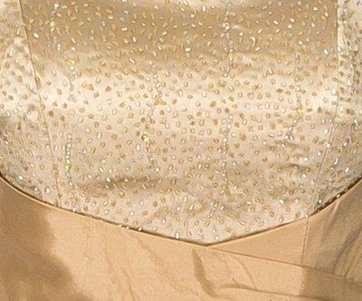 Unbekannt - Vestido - corte imperio - Básico - Sin mangas - para mujer Gold Beige