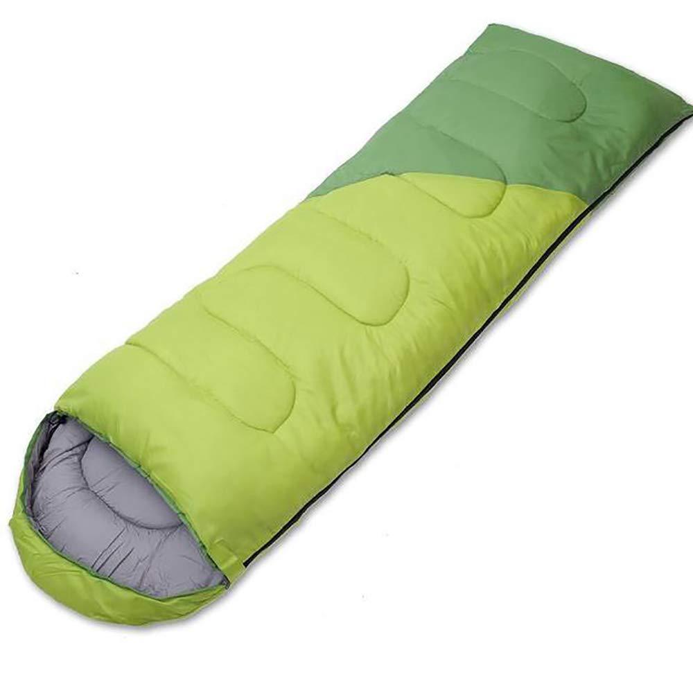 1.1kg LOY Camping Schlafsack - Tragbarer wasserdichter grüner Backpacking Schlafsack für 4-Jahreszeiten-Schlafsäcke(Erwachsene & Kinder)