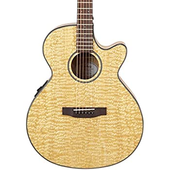 mitchell mx400 exotic wood acoustic electric guitar quilted ash burl musical. Black Bedroom Furniture Sets. Home Design Ideas