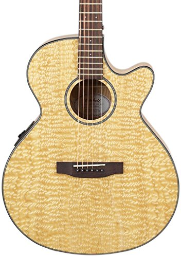 Mitchell MX400 Exotic Wood Acoustic-Electric Guitar Quilted Ash Burl ()