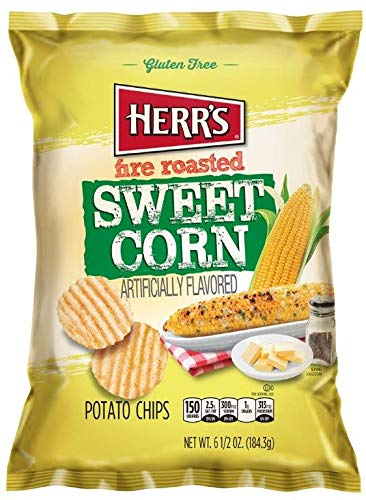 - Herr's - Fire Roasted Sweet Corn Potato Chips, Pack of 12 bags