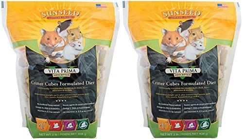 Critter Cubes Food [Set of 2] Size: 2 Pound (Hamster Lb Bag Food 2)