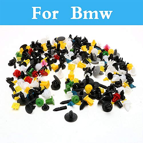 (Chenghuaguo 200pcs Mixed Car Fastener Car Bumper Clips Rivet Door Panel Fender Liner for BMW 1 3 5 7 Series E36 E46 E60 E70 E40 E90 F30 F10)