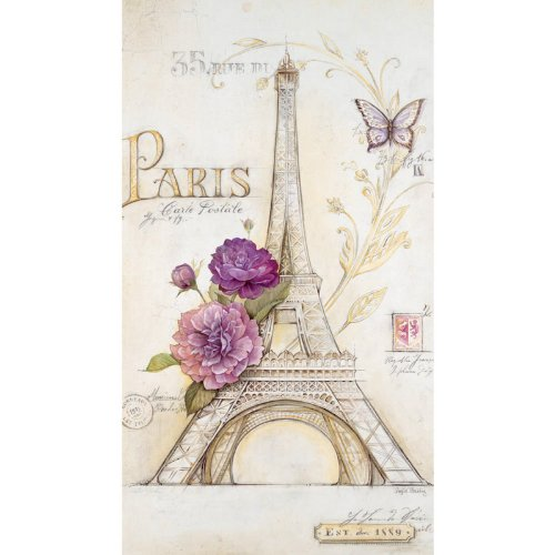 Eiffel Tower French Lilacs Paper Guest Towel Napkins