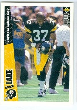 a044c097e22 Image Unavailable. Image not available for. Color  Carnell Lake football  card (Pittsburgh Steelers All Pro) ...