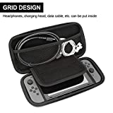 PECHAM Travel Carrying Case for Nintendo Switch with 8 Built-in Game Card Holders - Joy-con & Game Console Accessories Protective Storage Bag