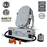 Hakkatronics 120W LED Retrofit Kit with Power Supply(UL/ETL), Replaces 550W MH/HPS/HID, Shoebox Flood Light Wall Pack Canopy High Bay Fixtures LED Retrofit [ 5000K / 14400 Lumens / 5 Years Warranty ]