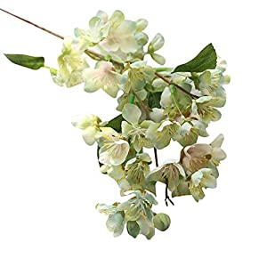 Artificial Fake Flowers Leaf Cherry Blossoms Floral Wedding Bouquet Party Decor Home Wall Decoration Dinner Table Flower Arrangements Indoor Home Party Decoration 35
