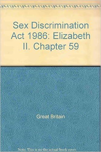 The sex discrimination act 1986