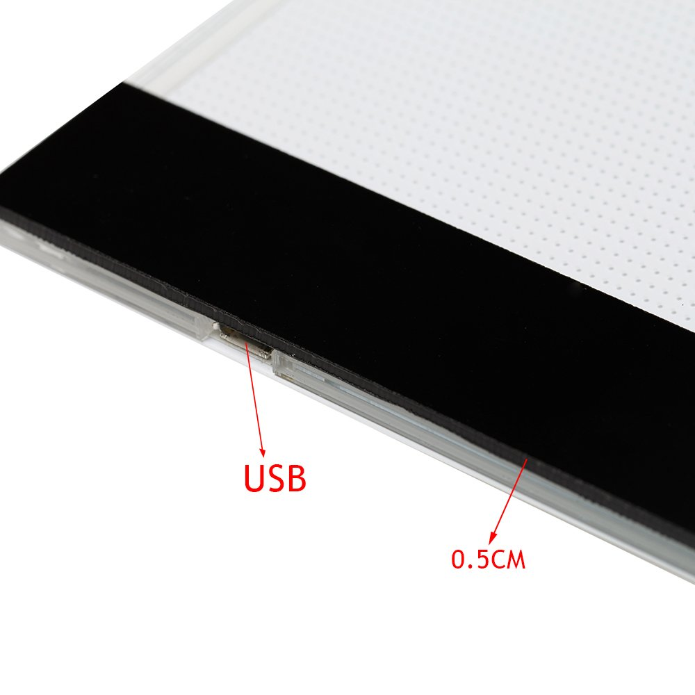A4 Light Box Tracing Pad Ultra-thin LED Display Drawing Board Stencil Artist Art Tracing Tatto Table A4 02