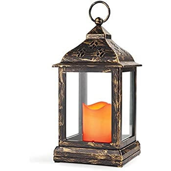 Amazon.com : NorthPoint Vintage Style 12 LED Lantern, Copper ...