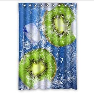 Best Custom Kiwi Fruit In The Water Pattern Design 100% Polyester Waterproof Shower Curtain 48 x 72