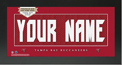 Tampa Bay Buccaneers NFL Custom Jersey Nameplate Framed Sign (Tampa Bay Buccaneers Picture Frame)