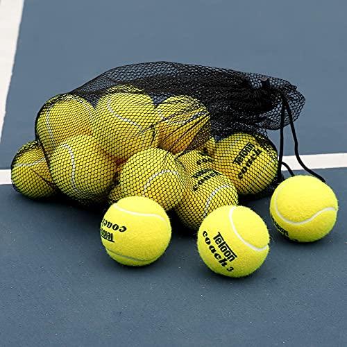 Pelotas de tenis de entrenamiento Teloon pack 18 amarilla