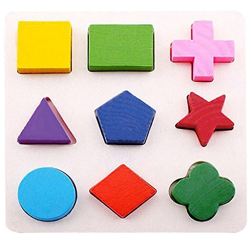 3 Multicolor Bloque Juegos Rompecabeza Magideal De Madera Delicate PwOuTZiXk