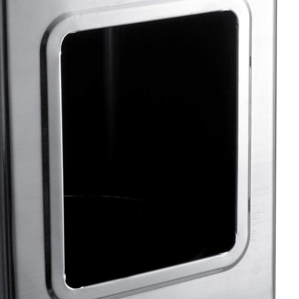 20cm Cubo de Basura Cubo de Basura de Pared Cenicero Cubo de Basura Cuadrado de Acero Inoxidable Brillante no magn/ético para Hotel u hogar