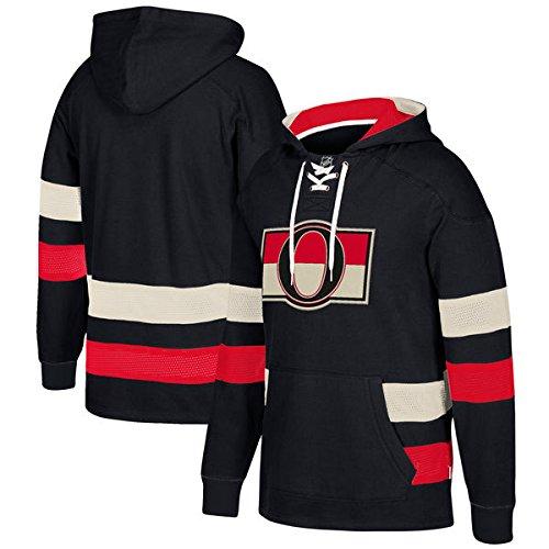 adidas NHL Ottawa Senators Ccm Pullover Jersey Hood, Black, Large