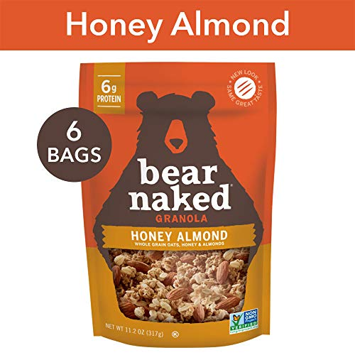 Bear Naked Honey Almond Granola - Non-GMO | Kosher | Vegetarian Friendly - 11.2 Oz (Pack of -