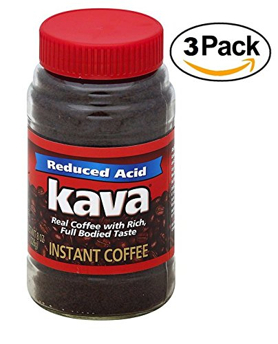 Kava Acid Neutralized Instant Coffee, 8 Ounce, (Pack of 3)