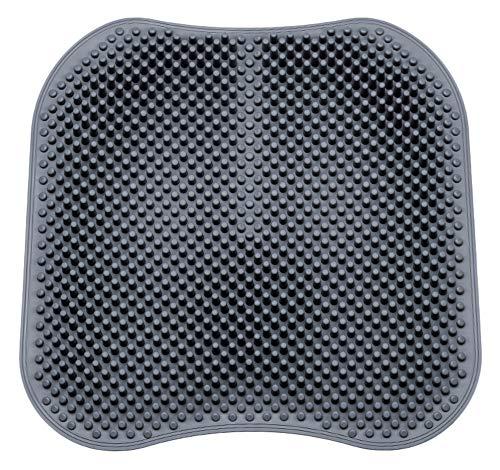 (Breathable Silicone Massage Seat Cushion,Unique 3D Pillar Design Relieve Fatigue Car Mat Car Seat (Grey))