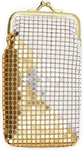 (White/Silver/Gold Vintage Luxuriant Soft 4mm Metallic Mesh (Full Pack 100s) Cigarette Case Purse)
