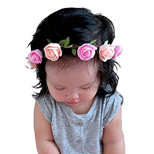 [Willsa Fashion Baby Girls DIY Rose Hair Band Head Wrap Band Accessories] (Diy Pageant Girl Costume)