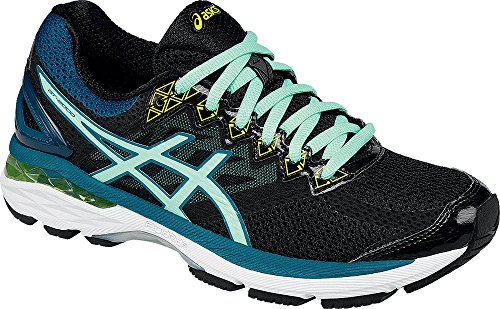 ASICS Women's GT-2000? 4 Black/Pool Blue/Flash Yellow Sneaker 8.5 D - (Ladies Flash)