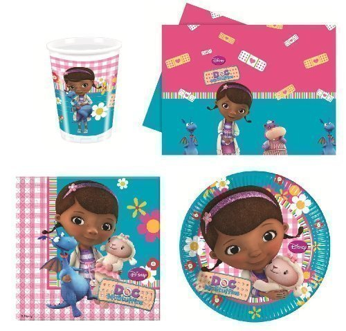 Doc McStuffins Party Tableware set for 8 guests including cups, plates, napkins and -