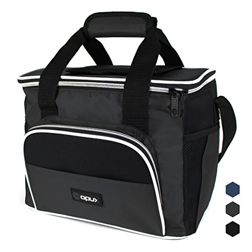 Premium Insulated Lunch Cooler Bag by Opux | Durable, Functional, Easy To Use | Large Capacity (Gray)