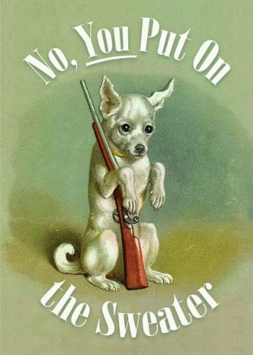 (6-pack) Vintage Chihuahua XXth Century Blank-Inside Card - 20225
