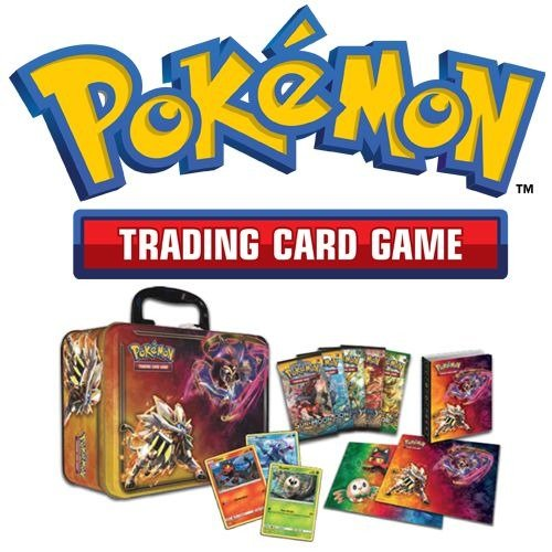 Pokemon TCG 2017 Collector Chest Tin Lunchbox + 2 Random Booster Packs (Sealed) Photo