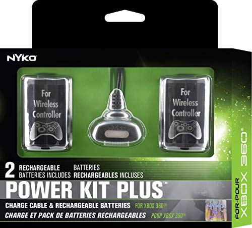 Nyko Power Kit Plus - 2 Pack Rechargeable Battery with Charge Cable for Xbox - 5.6 Block