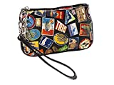 Sydney Love World Travel Print Wristlet, Black Multi