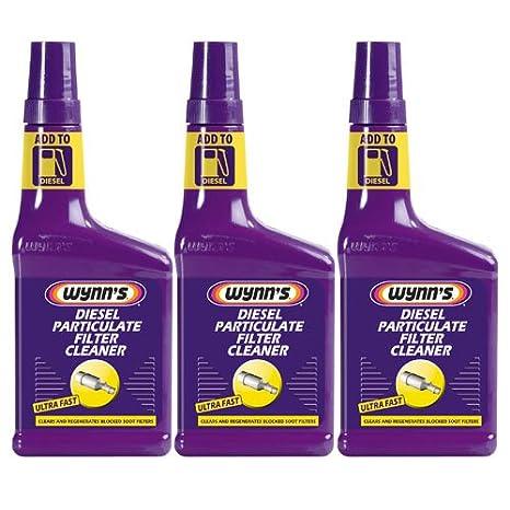 3 limpiadores de filtro de partículas diésel Wynns, 325 ml: Amazon.es: Coche y moto