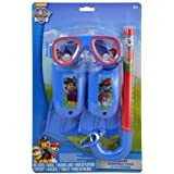 Paw Patrol Nickelodeon Swim Goggles Mask Snorkel Flippers Set