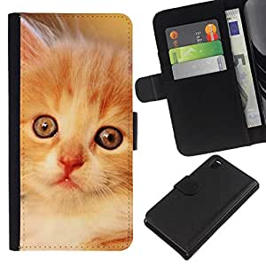 All Phone Most Case / Oferta Especial Cáscara Funda de cuero Monedero Cubierta de proteccion Caso / Wallet Case for Sony Xperia Z3 D6603 // Laperm Norwegian Forest Cat Selkirk