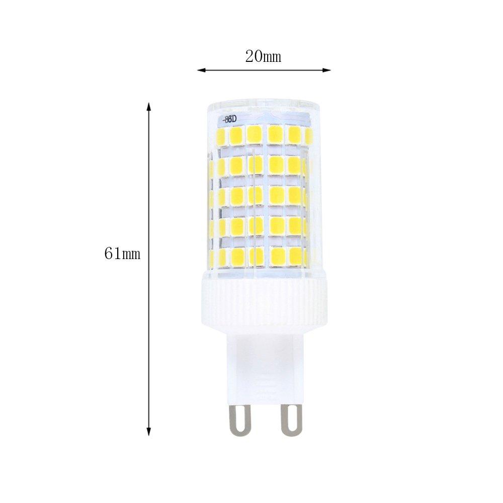 bi-pin base AC 220/V per raccordi da soffitto lampadario luci interne lampadina LED SMD Lampadina LED G9/10/W dimmerabile 5/pezzi bianco freddo 6000/K lampadina alogena di ricambio