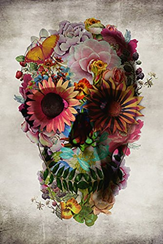 Poster Service Flower Skull Poster, 24-Inch by 36-Inch for $<!--Too low to display-->