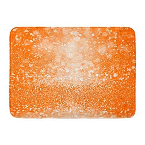 Emvency Doormats Bath Rugs Outdoor/Indoor Door Mat Abstract Orange Sparkle Confetti for Happy Birthday Spooky Fall Halloween Party Magic Child Trick Treat Bathroom Decor Rug Bath Mat 16