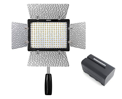 Yongnuo YN-160 III YN160 III Pro LED Video Light 5500K Color Temperature for Canon Nikon DSLR Camera DV and Camcorder with WINGONEER NP-F770 Battery and Battery Charger